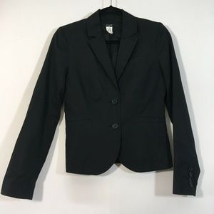 J Crew Blazer Size 4 Black Button Front Career